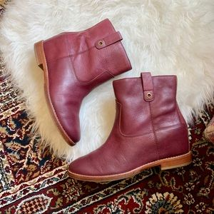 Cole Haan Burgundy Zillie Leather Boots 8.5